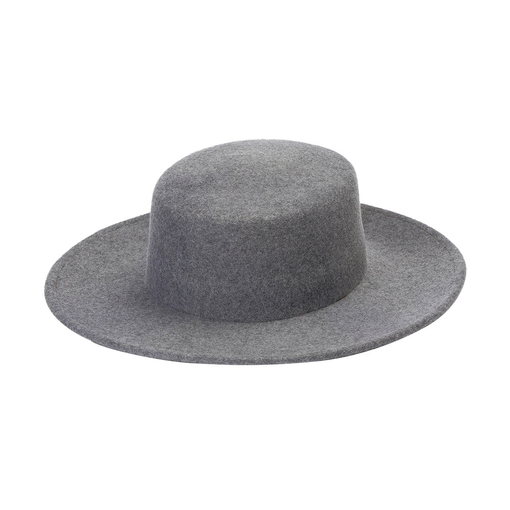 2021 Autumn Winter Custom Blank Wool Felt Boutique Fashion Outdoor Party Dress Safari Boater Little Girl Boy  Child Kids Hat