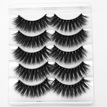 Custom false eyelash packaging synthetic mink lashes to creat your own lashes