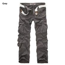 Мужские камуфляжные брюки-карго, свободные армейские брюки с несколькими карманами, большие размеры 28-40, 2019(Китай)