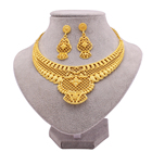 Jewelry Sets Indian Jewellery Set Jewelry Sets Ethiopian Gold Plated Arabia Necklace Pendant Earring For Women Indian Dubai African Wedding Party Jewellery Set