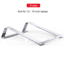 Портативная подставка для ноутбука из алюминиевого сплава, держатель для Macbook Air Pro 15 13, нескользящий Силиконовый охлаждающий кронштейн для ...(Китай)