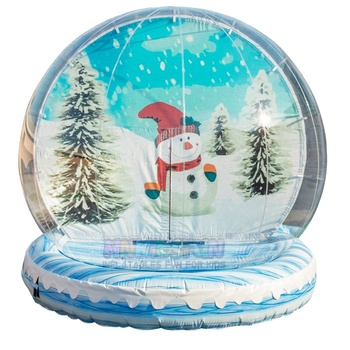 Advertising inflatables lager transparent christmas inflatable snow globe with background photo booth dome bubble tent