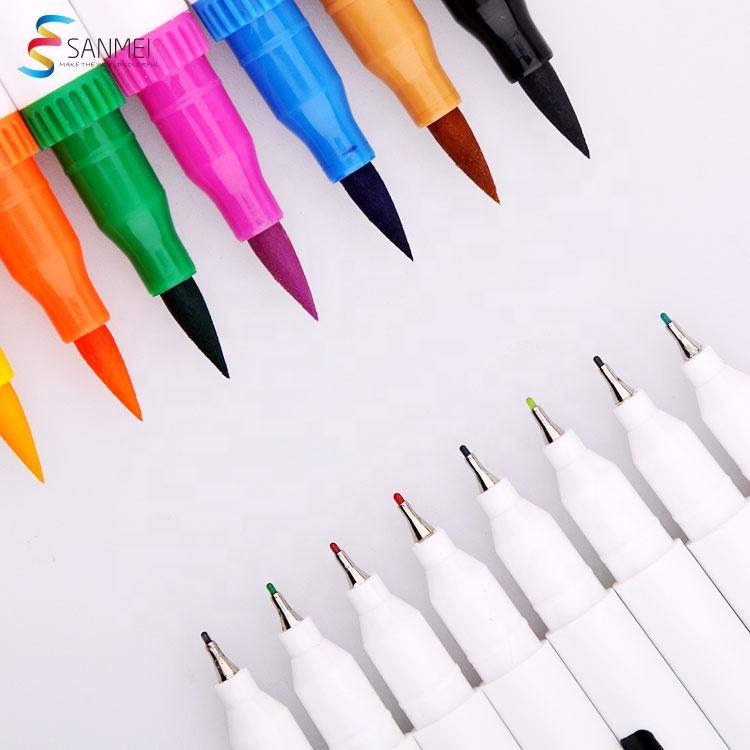 Набор из 12 двойной наконечник тонкой гильзы акварель детская Кисть ручка с микро иглы