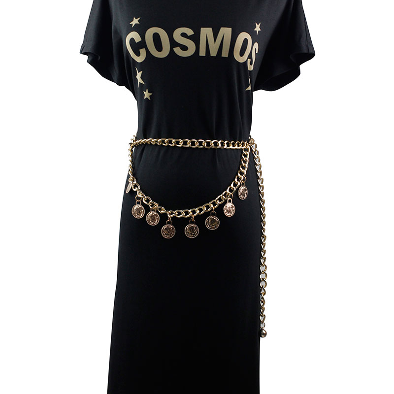 Новинка 2019, преувеличенный винтажный стиль, золотистый пояс с цепочкой на талию для женщин