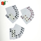High quality promotional item custom innovative learning card games poker plastic playing card