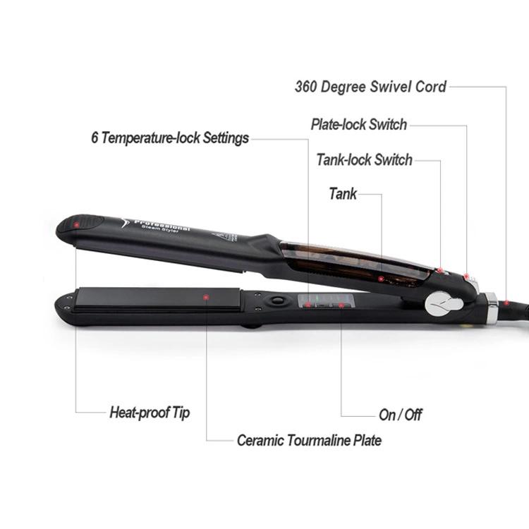 Новинка Черный Простой Профессиональный паровой утюжок для волос выпрямитель для волос быстрое керамическое паровое выпрямитель для волос
