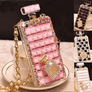 For iPhone 6 6S 7 8 Plus X XS Xs Max 11 12 Mini Pro Max Luxury Bling Diamond Rhinestone Crystal Perfume Bottle Phone Case