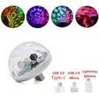 cheap price dj laser lights led club bar party Small Magic Ball acoustic sensor rgb usb mini lamp disco light dj
