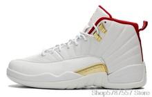 Оригинальные женские кроссовки Nike Air Jordan 12, Мужская баскетбольная обувь Jordan, обувь для игры в грипп, 2016 153265-002, высокие кроссовки Jordan()