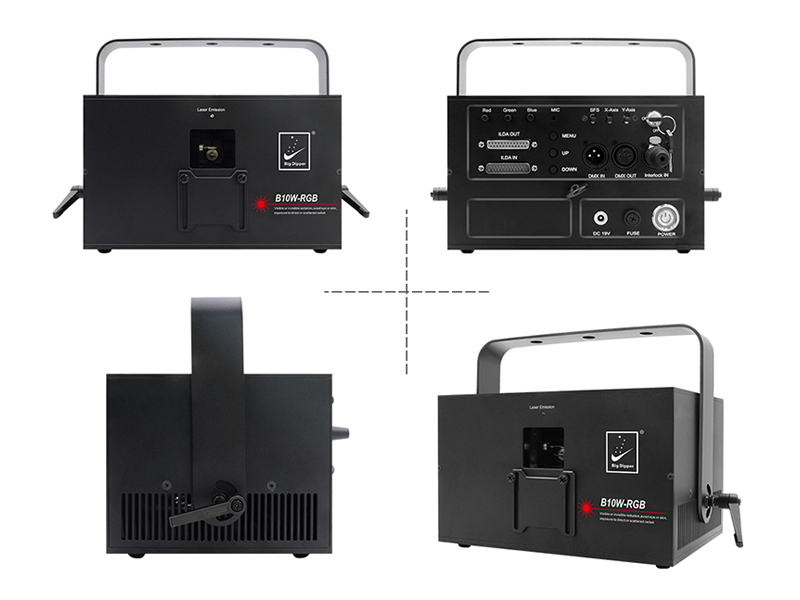 Big Dipper Betopper Seven Stars B10W-RGB 10W full color animation laser with PC ILDA for Wedding Disco Performance Bar Event
