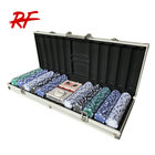 500 piece texas holdem poker chips set with aluminum case