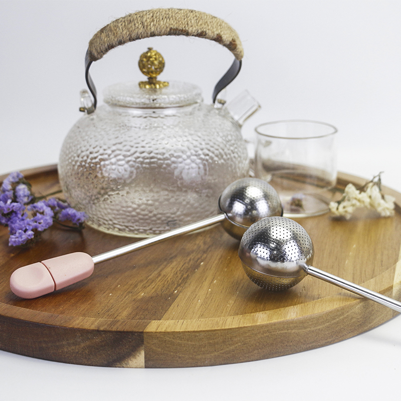 High quality stainless steel tea ball infuser with twisting handle
