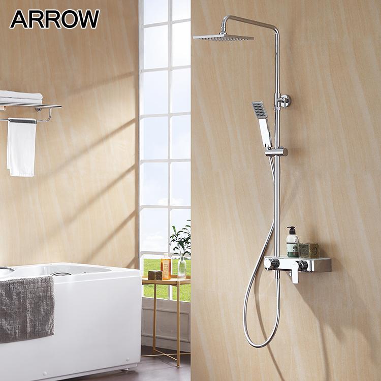 Bathtub Faucet Mounted Rain Shower Set Square Rain Shower Head Set Buy Bathroom Shower Sets Bathtub Shower Faucet Bathroom Shower Faucet Sets Product On Alibaba Com