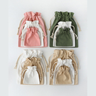 Customised Soft Canvas Washing Durable Organic Tote Draw String Shoe Bag Small Foldable Canvas Cloth Drawstring Bag