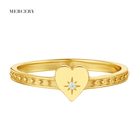 Rings Ring Rings The Ring Mother`s Day Mama18K Gold Plated Silver Jewelry Aneis Prata White Cubic Zirconia Ladies Rings Promise Anise Star Heart Ring