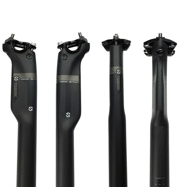 350//400mm 31.8 Carbon Mountain Road Bicycle Seat Posts Seatpost shiny//matt black