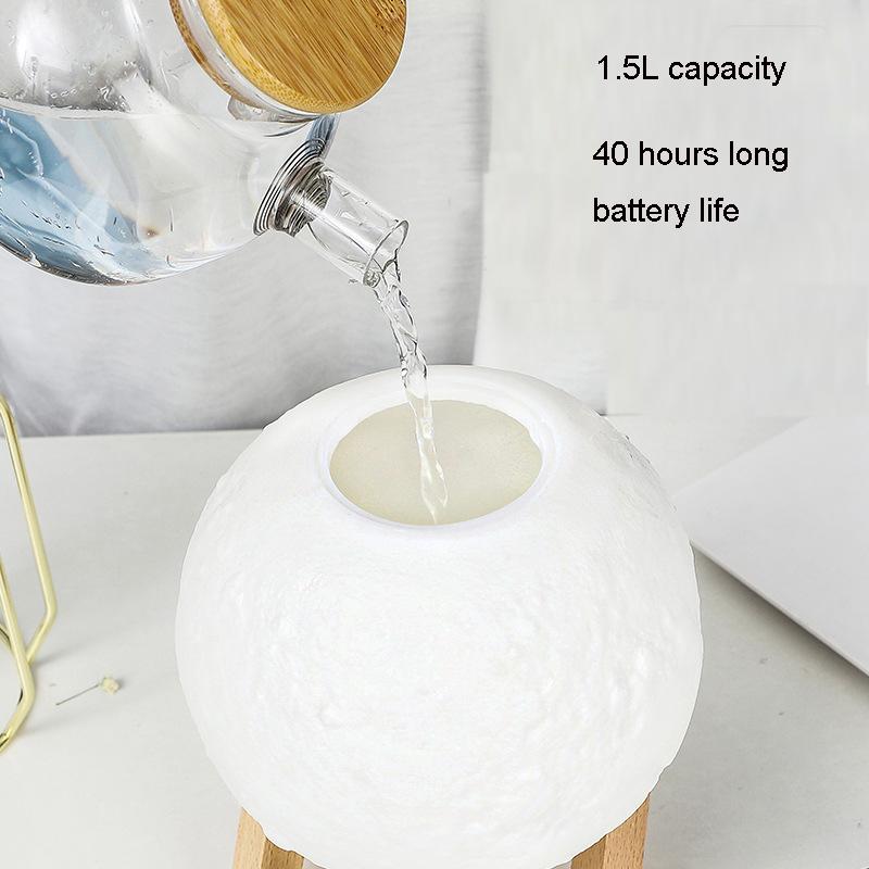 YJN5404C дома Портативный 15 см 1500 мл большой емкости Silent USB мини 3d звезды и луна лампа увлажнитель воздуха