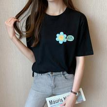 Женская футболка с принтом подсолнуха, футболка большого размера из 100% хлопка с принтом «Подсолнух» и принтом в виде подсолнуха, для женщин,...(China)