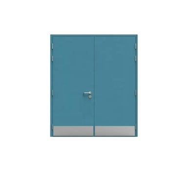 UL Listed interior hospital School fire resistant steel security door with kick plate