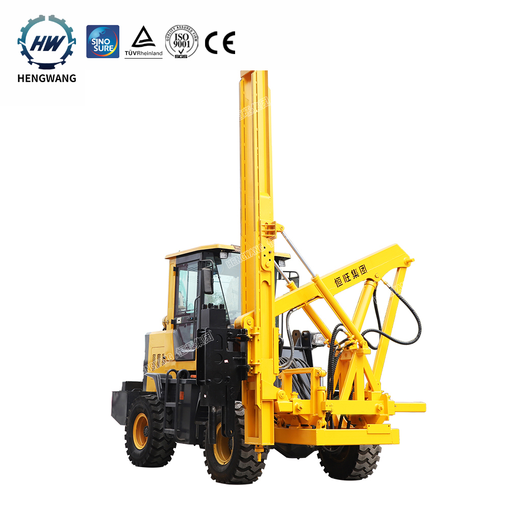 Foundation construction equipment diesel engine drilling and pilling guardrail post pile driver