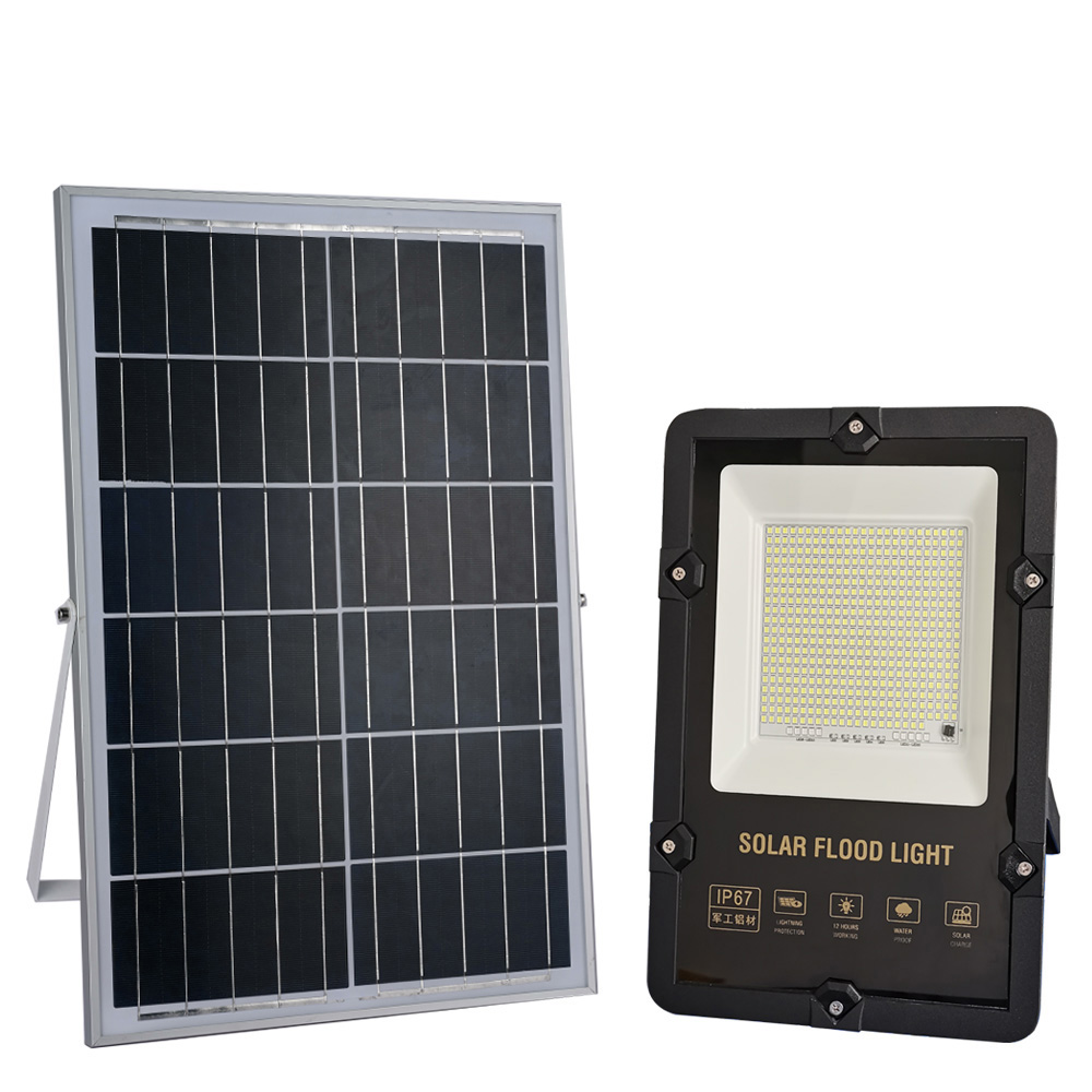 New design solar led flood light outdoor IP65 waterproof 30W 50W 100w 200w  300w  zhongshan factory direct sale