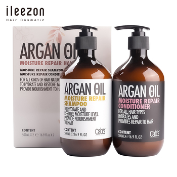 Argan oil hair shampoo and conditioner set nourish moisture damaged hair customized label hair care products