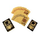 Plastic Cards Poker Plastic Plastic Playing Cards Wholesale Cheap Plastic Skull Gold Foil Playing Cards Waterproof Poker