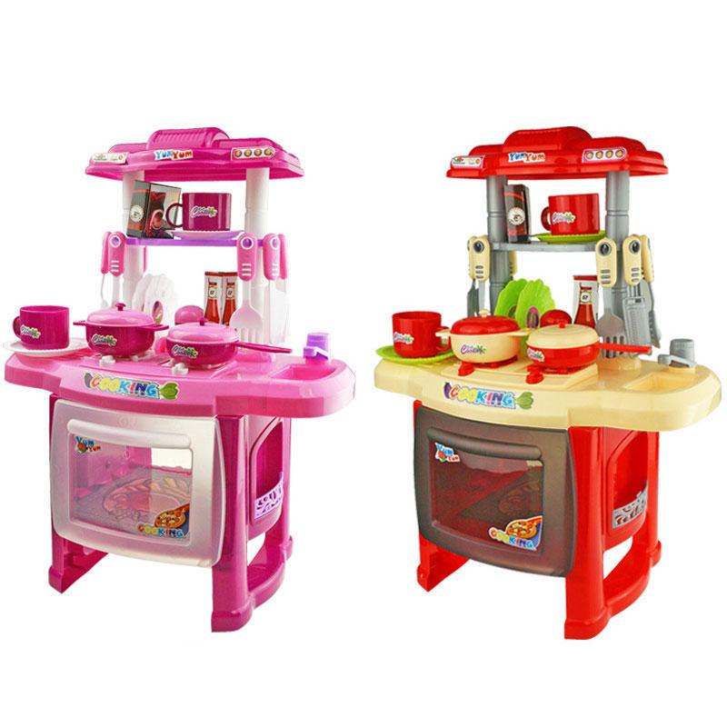 Оптовая продажа, детский пластиковый кухонный набор для детского питания, игрушка, игрушки для ролевых игр, набор кухонной утвари для девочек и мальчиков, детское приготовление