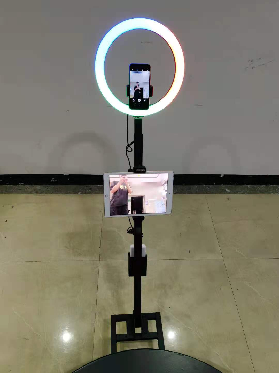 Slow Motion magic Portable vertical LED iPad photo booth 360 Degree Spin Camera Photo Booth 360 Selfie Platform Photobooth