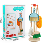 Customized wooden toys clean house cleaning tools stand for cleaning equipment