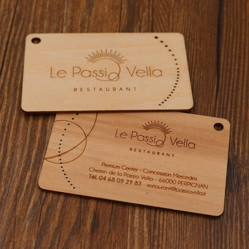 Wholesale bamboo or wood carving business cards printed on wood