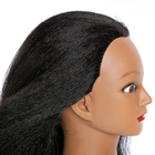 Model Hair Hairdressing Head Model Mannequin Head With Afro Human Hair Maniquin Training Head
