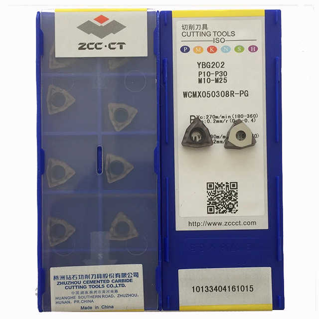 lathe turning insert 10pcs 100/% Original genuine ZCC.CT WCMX050308R-PG YBG202