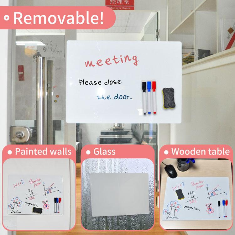 Factory Custom Wholesale Washable Note Board Reusable Resticky Whiteboard Memo A4 Size Board For Office Home - Yola WhiteBoard | szyola.net