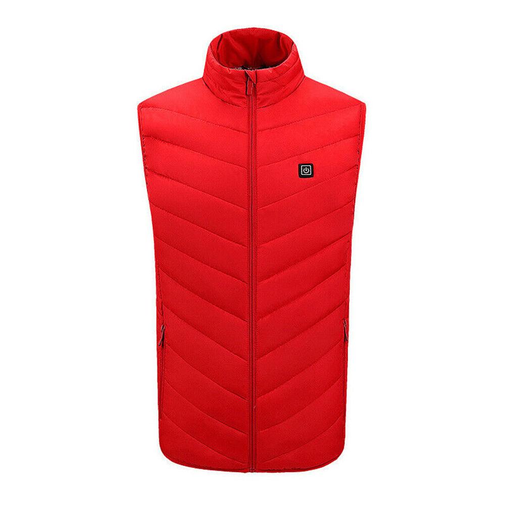 Men Autumn Winter Smart Heating Cotton Vest USB Infrared Electric Heating Vest Women Outdoor Flexible Thermal Warm Jacket