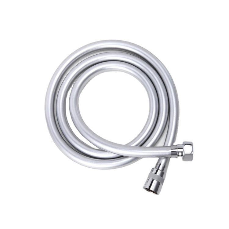 Shower Hose 150cm SHOWER HOSE PVC Silver NEW
