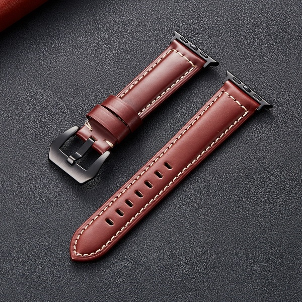 Top Selling Genuine Leather Watch Strap For Apple Watch Band,Smart Watch Band For Apple iwatch Series 6 se