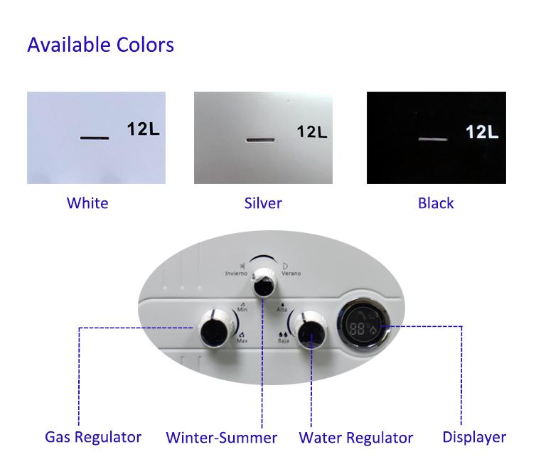 Горячая Распродажа, настенные нагреватели для ванной, высокое качество, 12 л, мгновенный безрезервуарный водонагреватель, газ по низкой цене