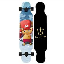 Цельный Взрослый скейт для мальчиков и девочек, для начинающих, танцы, клен, дерево, Длинные скейтборды(Китай)