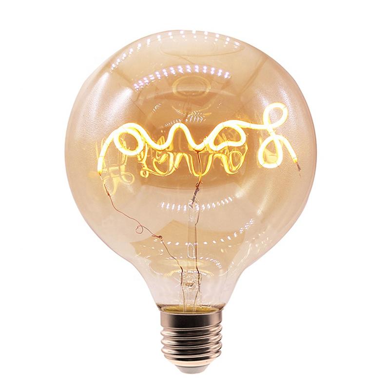 Dimmable Led Filament Light Bulb Lamp G95 Lighting Bulbs E26 E27
