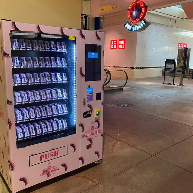 Top sellers beauty vending machines with touch screen monitor for lashes and hair