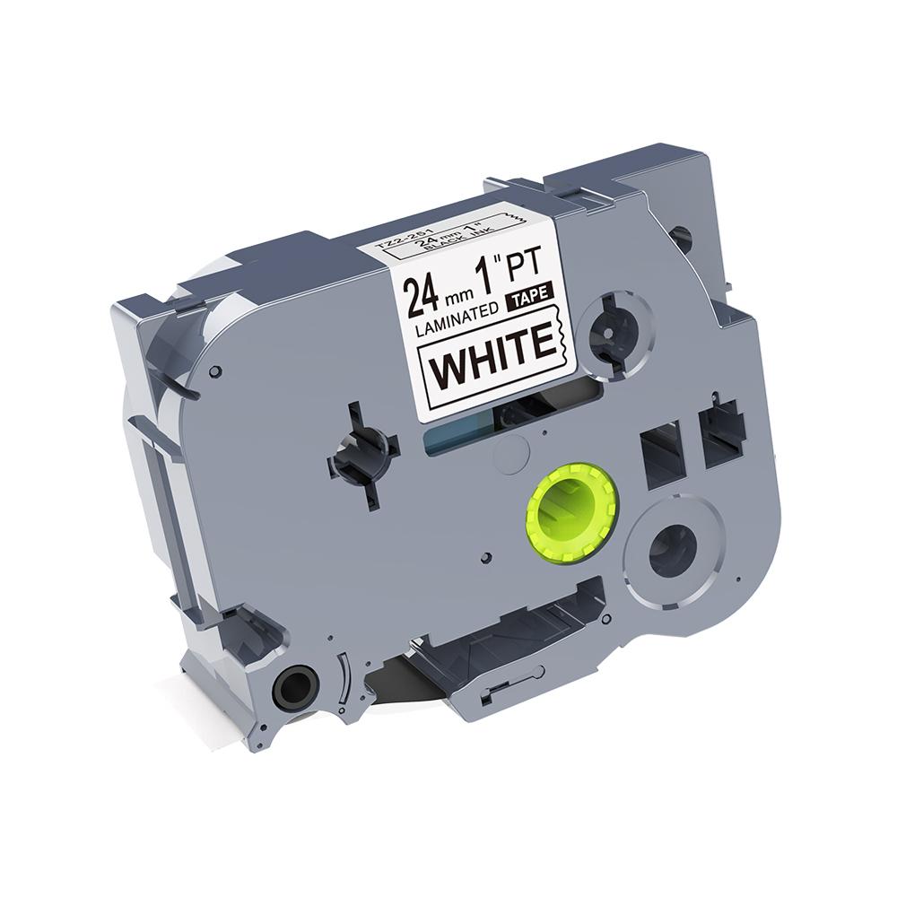 TZe ленты 24 мм черный на белом фоне tze-251 tze251 этикетировщик ламинированные этикетки ленты Подходит для заправки для P touch принтеры этикеток