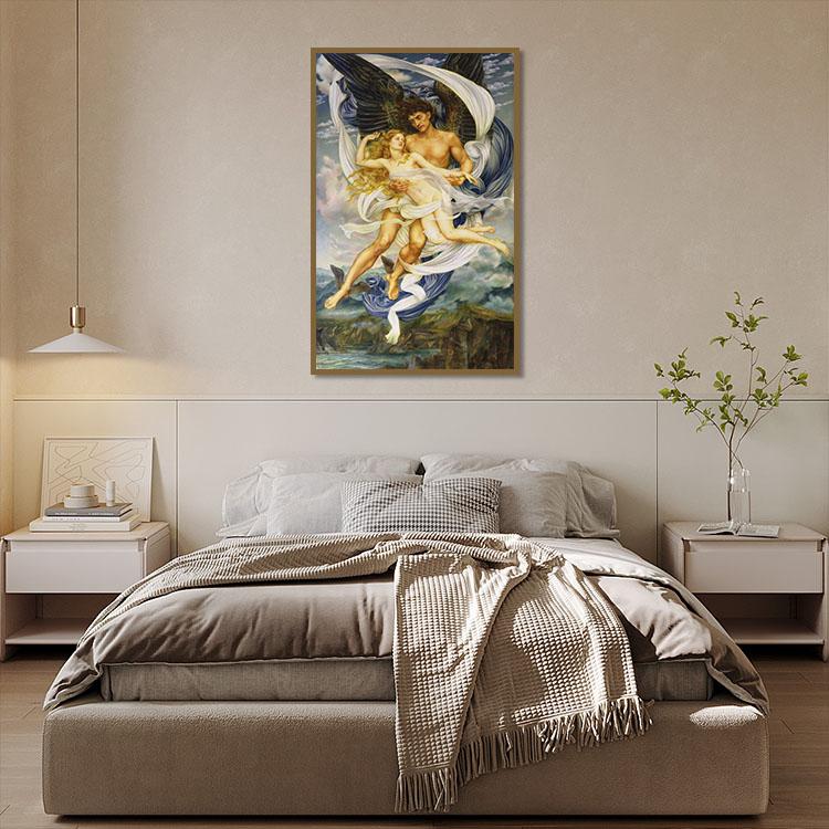 DIY Romantic Nude Painting Living Room Decor Canvas Oil Painting Wall Art Nude Painting By Numbers