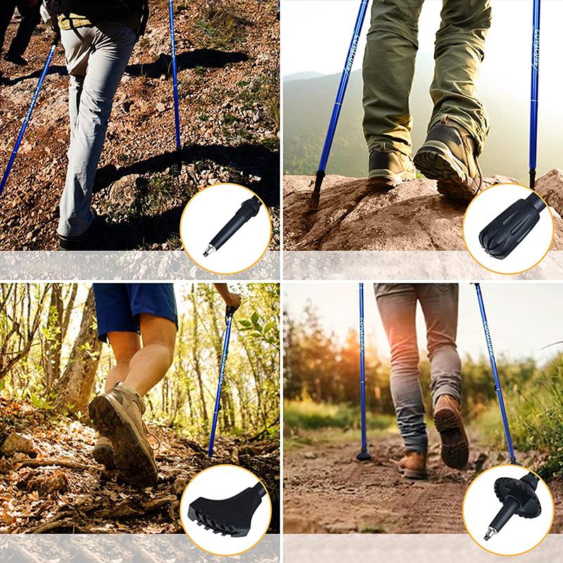 Пользовательские Nordic 5-секционный Сверхлегкий труба из углеродистого волокна 3k из углеродного волокна складной пеший Туризм трекинговые палки, прогулочная палка