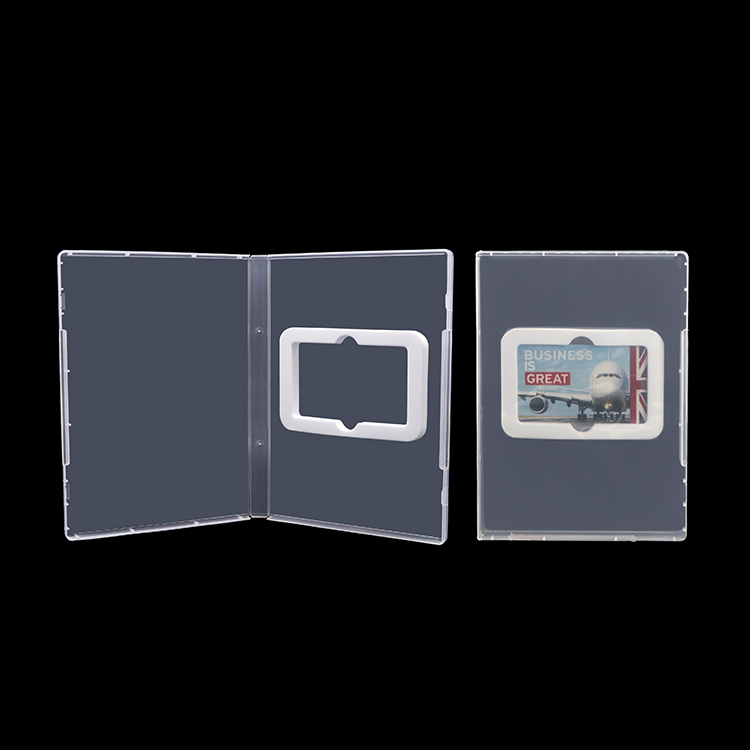 Custom logo luxury rigid plastic case for usb packaging box with sponge foam insert usb enclosure case - USBSKY | USBSKY.NET