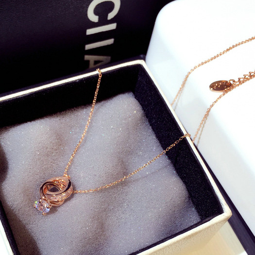 Chocker Necklace with Circle in Silver or Gold Plating