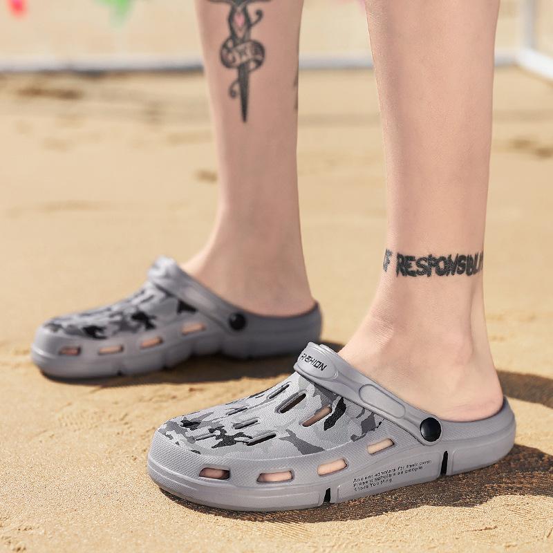 Модные мужские камуфляжные сандалии