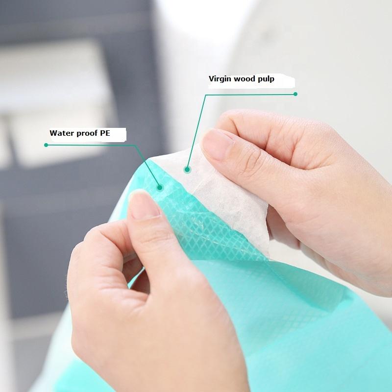 Индивидуальная упаковка 100% водонепроницаемый одноразовый коврик для унитаза