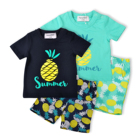 Summer fashion boutiques baby boy clothes sets outfit wholesale