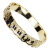 Custom Jewelry Premium Real Gold Plated  Hawaiian Flower Letter Bangle Bracelet Jewelry For Women